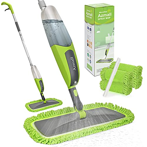 Spray Mop for Floor Cleaning Microfiber Mop Wet Dust Mop with 4 Reusable Washable Microfiber Pads...