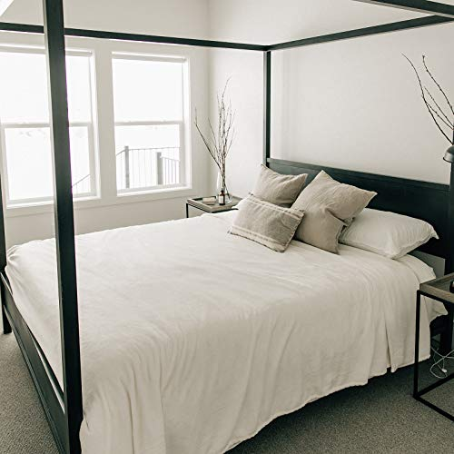 Graced Soft Luxuries Bed Blanket Fleece Minky Microfiber Soft Bedding (Ivory, King Size 108' x 90')