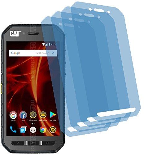 4ProTec I 4X Crystal Clear klar Schutzfolie für Caterpillar CAT S41 Bildschirmschutzfolie Displayschutzfolie Schutzhülle Bildschirmschutz Bildschirmfolie Folie