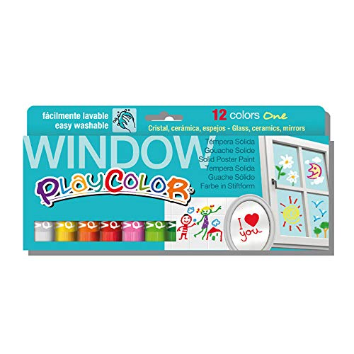 Tempera Instant SOLIDA PLAYCOLOR One Window 10Gr Estuche de 12 Colores