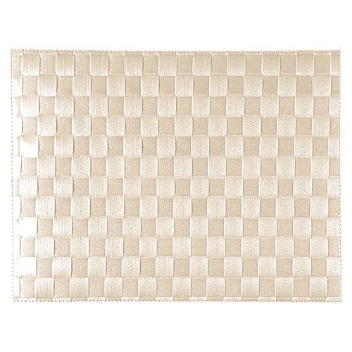 Saleen Tisch-Set, Flechtoptik, Maße: 30 x 40 cm, Eckig, Kunststoff, Sahara, 01010154101