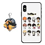 iPhone 5s / SE Case Haikyuu Anime Cover [with Haikyuu Figure Keychain], Soft Silicone Flexible TPU Volleyball Junior Anime Animation Phone Case for iPhone 5s / SE