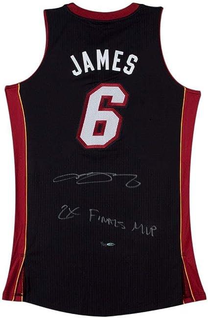 LeBron James Autographed & Inscribed 2X Finals MVP Black Heat ...