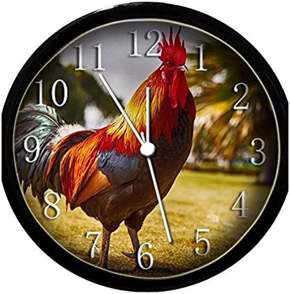 Glow In The Dark Wall Clock Rooster