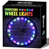 Sumree LED Bike Wheel Lights, 2-Tire Pack Bike Lights with Batteries Included, Best Bicycle Lights - Stocking Stuffer Birthday Gift for Kids, Boys, Girls, Adults (Rainbow)
