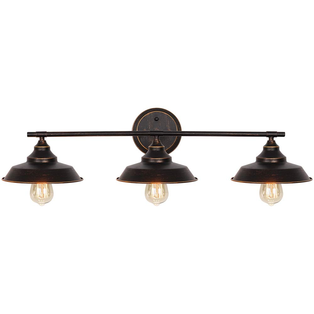 Wall Vanity Light Fixture Farmhouse Bathroom Lighting 3 Light Brown Wall Sconce Lighting For Bathroom Vanity Mirror Cabinets Dressing Table Buy Online In Sri Lanka At Desertcart Productid 198841025