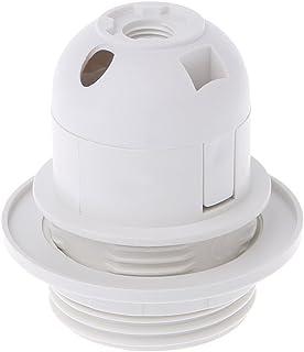 MIKI-Z E27 Portalámparas Bombilla Edison Tornillo Casquillo Blanco/Negro Lámpara de Techo Colgante