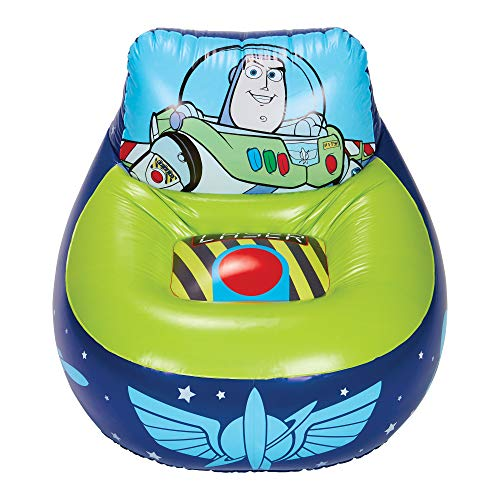 Disney 288TOY Toy Story 4 Kinder Aufblasbarer Gaming-Stuhl, Blau/Grün