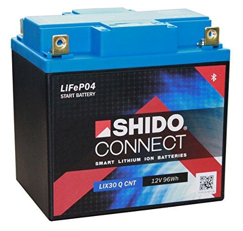 Batterie Shido Connect Lithium LIX30L CNT / YIX30L-BS, 12V/30AH (Maße: 166x126x175)