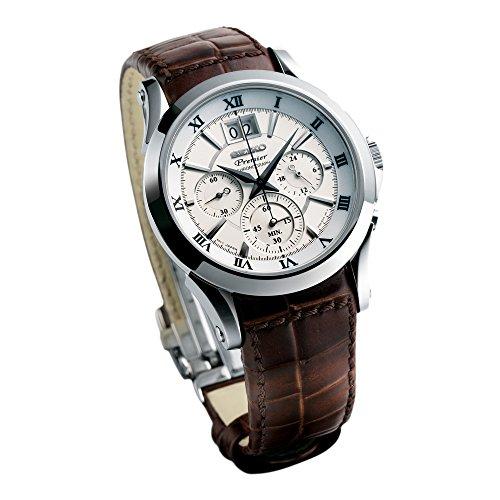 Seiko Premier SPC059P1 - Reloj de Pulsera para Hombre (cronógrafo, Cuarzo, Correa de Piel)
