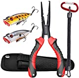 Best Fishing Pliers - JOOKKI Fishing Pliers,Fish plier Saltwater with Sheath Resistant Review