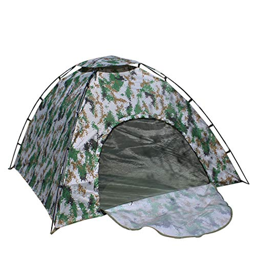 YJFFAn Tent Digitale Camouflage Katoenen Tent Vier Seizoenen Digitale Camouflage Tent Dikker Katoen Camouflage Outdoor Camping Tent