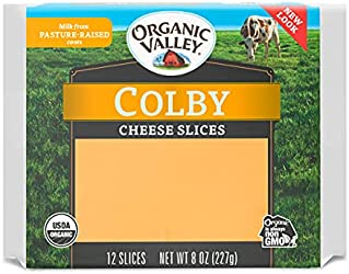 Organic Valley Organic Colby Cheese Slices - Pasture Raised, Non GMO, Gluten Free - 8 oz