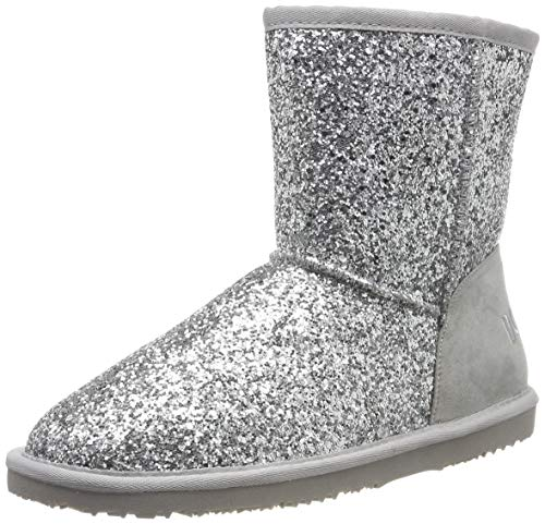 Dockers by Gerli Unisex-Kinder 45SV704 Mokassin Boots, Silber (Silber 550), 39 EU