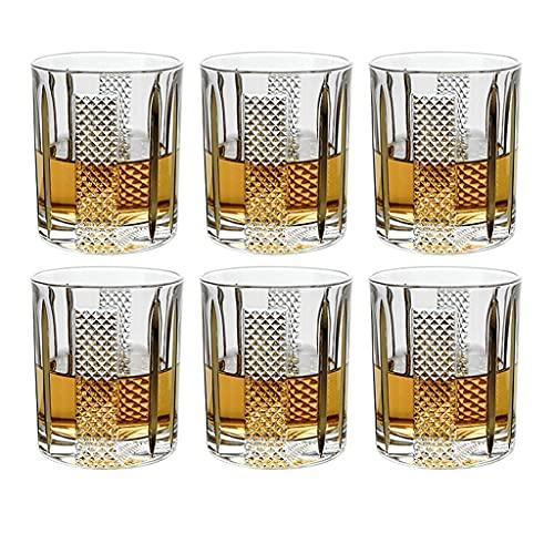 Cristalería Vaso De Cristal Vaso De Whisky Pintado A Mano Dorado Copa...