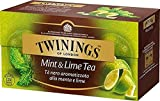 Twinings Tè Aromatizados - Menta y Lima - Precioso té Negro Aromatizado con Frutas, Flores, Especias y Esencias - Sabor Envolvente, Excelente tanto Caliente como Frio (50 Bolsas)