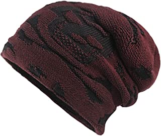 Clearance WUAI Unisex Winter Knit Hat Thicken Warm Knit Beanie Slouchy Caps Skull Hat