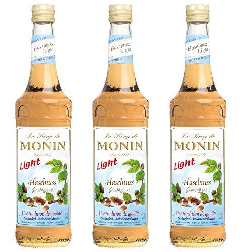 Monin Sirup Haselnuss Light, 0,7L 3er Pack