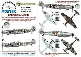 Montex KAM 1:32 Bf-109 G-10 #4 for Hasegawa Mask + Metal Part #KAM32112