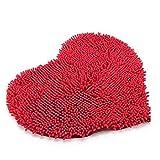 winomo Premium Corazón formte antideslizante microfibra chenilla Ropa de dormitorio Stock Alfombra–Alfombrilla de baño (50x 60cm