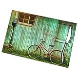 Asekngvo Set di 6 tovagliette con finestra vintage con stampa di biciclette per tavolo da pranzo lavabile tovagliette per cucina sala da pranzo decorazione casa 30,5 x 45,5 cm