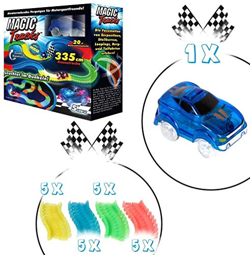 Broszio Magic Tracks Starter Set Track Set with Car