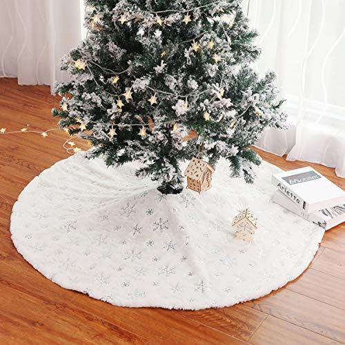 Dreamworldeu 122 cm Weihnachtsbaumdecke Weihnachtsbaum Rock Plüsche Weiche Christbaumdecke Christbaumständer Teppich
