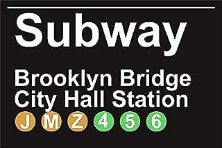 Subway Brooklyn Bridge City Hall Staion NYC Aluminum Tin Metal Poster Sign Wall Decor 12x18