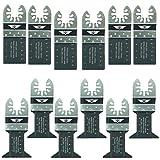 12 x TopsTools FAK12BMX Fast Fit Lame Bi-Metal per DeWalt Stanley Black & Decker Bosch Fein (Nessuno-Starlock) Milwaukee Makita Parkside Ryobi Worx Utensile multiuso accessori multifunzione
