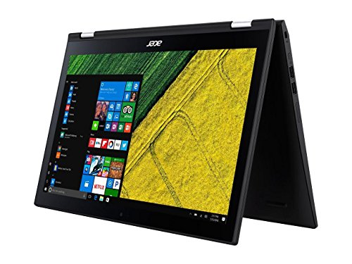 """Acer Spin 3 15.6"""" Full HD IPS Touch Convertible Notebook Computer, Intel Core i5-7200U 2.5GHz, 8GB RAM, 256GB SSD, Windows 10, Black"""