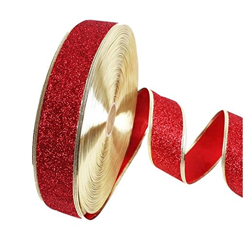 oobest 100cm*5cm Shining Satijn Bling Wrapping Band Glitter Metallic Sparkle Linten voor Bruiloft Party Home Decoratie