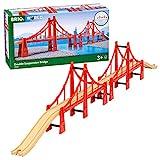 Brio World - 33683 - Double Pont Suspendu - Accessoire pour circuit de train en bois - Pour agrandir son circuit - Jouet pour garçons et filles à partir de 3 ans