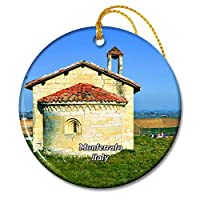 イタリアMonferratoMoleto Ottiglioクリスマスオーナメントセラミックシート旅行お土産ギフト
