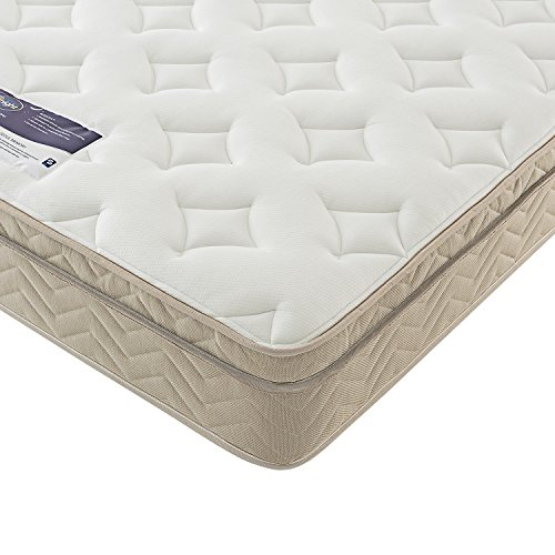 Silentnight Sprung Memory Mattress, Zoned Spring System, Luxury Memory Cushion Top, Quilted Cover, Medium, Single