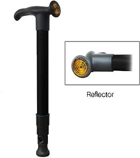 Pocket Cane - Ultra Compact Walking Cane for Men, Women - Collapsible, Lightweight, Adjustable, Portable Hand Walking Stick - Balancing Mobility Aid - Sleek, Comfortable T Handles - Black