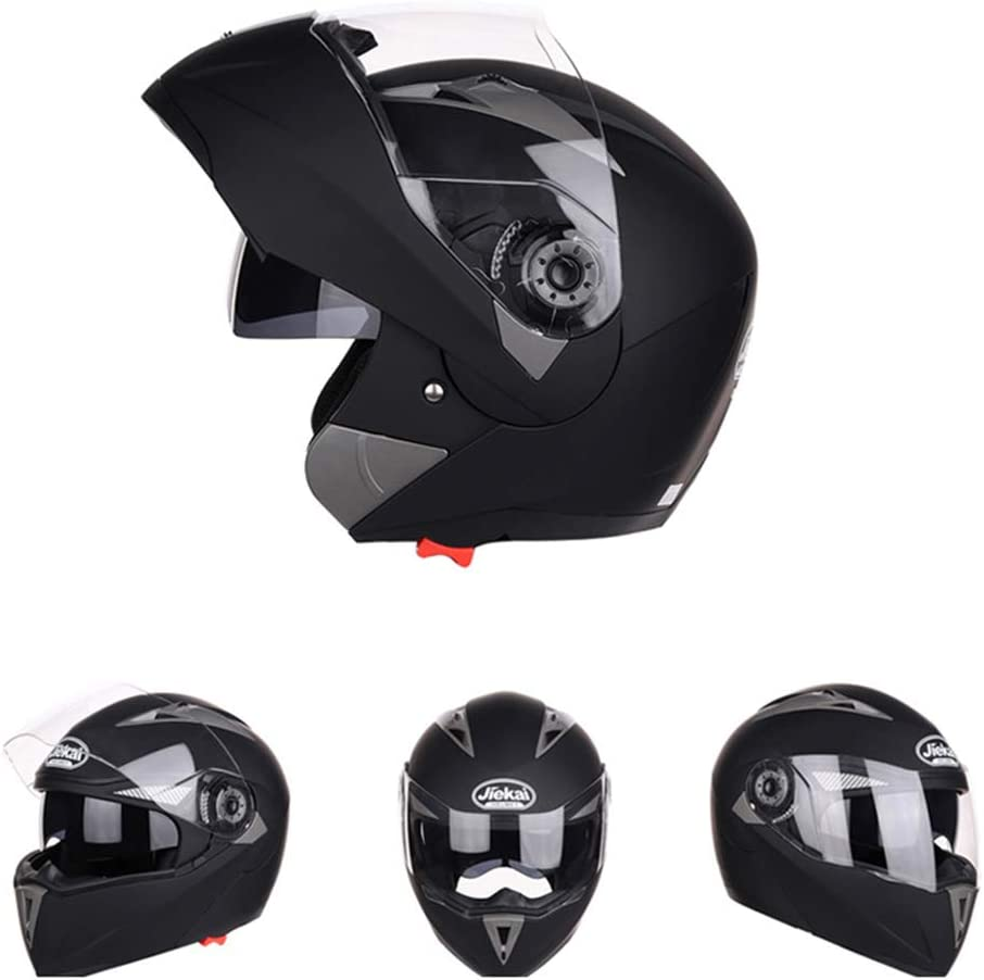 Jiekai Motorradhelm Für Crash Modular Open Face High Safety Racing Motorradhelm With Sun Visor Für Erwachsene Männer Frauen Sport Freizeit
