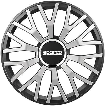 Sparco Spc1310svbk Leggera Wheel Covers Silverblack Border Set Of 4 13