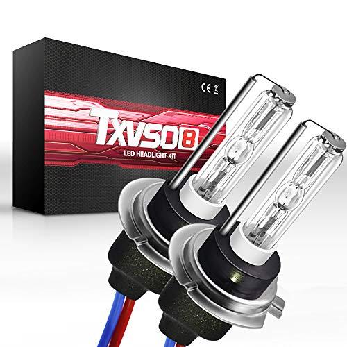 Sipobuy H7 55W VERSTECKTE Xenonbirnenscheinwerfer-Ersatzlampe, Metallfuß, 6000k Weiß, 2pcs / set