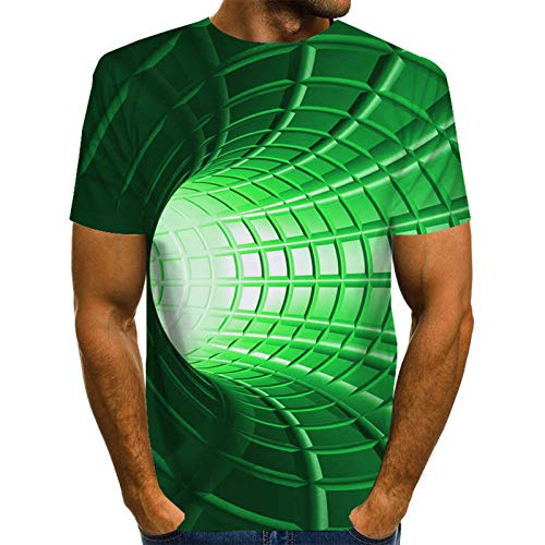 SSBZYES Herren T-Shirt Herren Bedruckte Rundhals-T-Shirt Herren Plus Size T-Shirt Digitaldruck Strudel Herren europäischen Code lässig lose Top Sommer Kurzarm