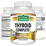 Botanic Choice Thyroid Complete - Herbal Daily Supplement - Supports Weight Loss Goals Promotes Healthy Metabolism and Thyroid Function for Overall Wellness 60 Capsules