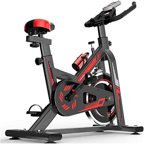 Entrenamiento Bicicleta interior Spinning Bike Ejercicio bicicleta con volante pesado Cinturón fijo Cinturón Ajustable Asiento Ajustable Pantalla LCD Muestra Bicicleta de aptitud adecuada para en casa