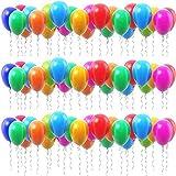 P&S events 100er XL Pack große Bunte Luftballons 30 cm Premium Markenqualität Helium Ballongas geeignet 100% Naturlatex farbige Ballons (Mehrfarbig)