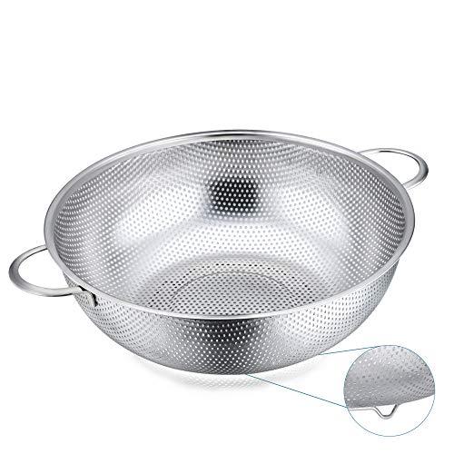 HaWare Sieb, Edelstahl Küchensieb Nudelsieb mit Griff, Ø28cm, Mikroperforiertes Abtropfsieb Seiher zum Ablaufen & Spülen für Küche/Nudel/Gemüse/Obst/Reis, Spülmaschinenfest