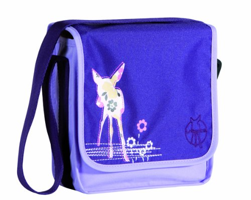 LÄSSIG Mini Messenger Bag Kindergartentasche, Deer viola