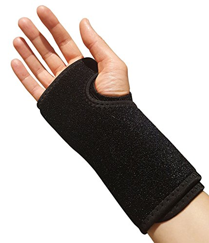 Carpal Tunnel Wrist Brace – Ideal Support for Day or Night Time Wear. Comfortable Arm Splint for Sprained Wrists and Hands. Compression Reduces RSI, Forearm Tendonitis or Arthritis Thumb Joint (Right)