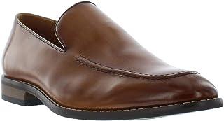 حذاء رجالي من جورجيو بروتيني باللون البني والأسود بدون رباط، حذاء Moc Toe بدون كعب