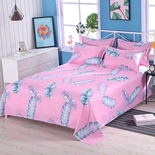 NVJR 1pcs Bed sheets+ 2pcs Pillow covers Bed Sheet 100% Cotton Mattress Protector Cover Flat Sheet Soft bed Sheet 2020,L,230x130cm