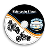 Motorcycle-Chopper-Biker Clipart-Vector Clip Art-Vinyl Cutter Plotter Images-T-Shirt Design Graphics CD