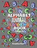 """Alphabet Animal Coloring Book For Kids: A Fun Game for 3-8 Year Old   Picture For Toddlers & Grown Ups   Letters,Shapes,Color Animals 8.5 x 11""""   29 Pages"""