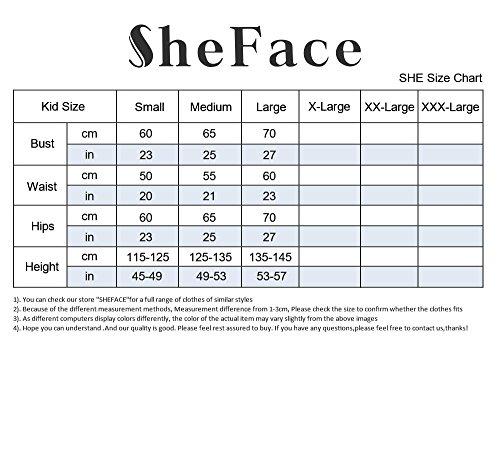 Sheface Kids Spandex Bodysuits Costume Unitards